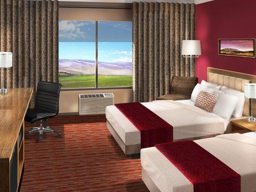 Double queen hotel room
