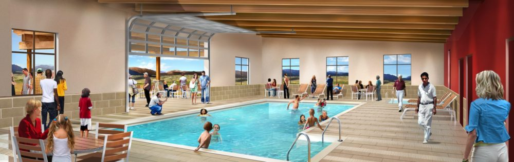 Swimming pool rendering