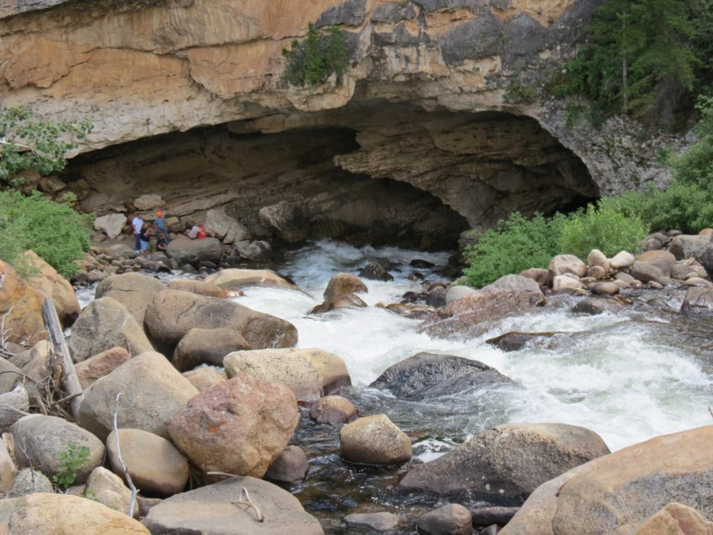 The Sinks are a natural phenomenon where the river goes into the mountain.
